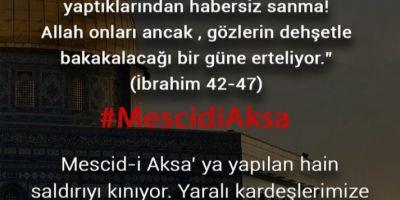 MESCİD-İ AKSA KUTSALDIR
