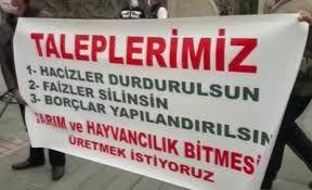 Tarım Kredi mağduru çiftçiler Kayseri'den seslerini duyurmaya çalıştılar